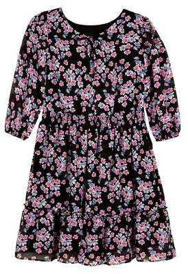 Ally B Girl's Floral Pleated Dress