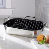 Crate & Barrel All-Clad ® Large Nonstick Roasting Pan with Rack