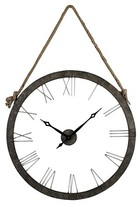 Lazy Susan 36 in. Rustic Iron, Silver Wall Clock