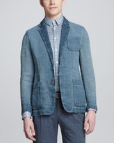Giorgio Armani Burlap Patch-Pocket Blazer