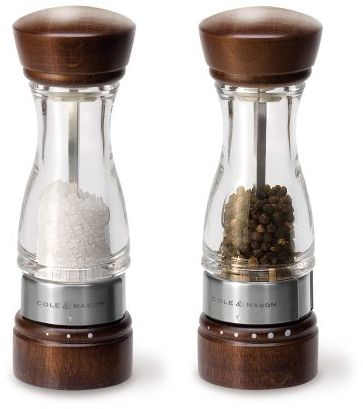 Cole & Mason Cole and Mason Keswick Wood and Acrylic Salt & Pepper Mills