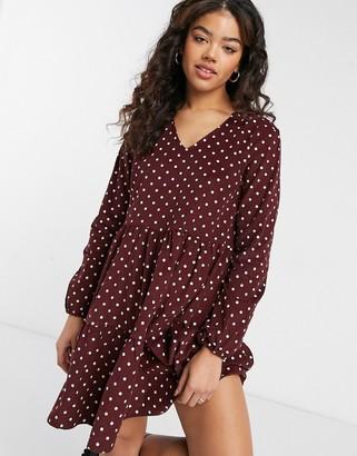 JDY woven mini dress in spot print