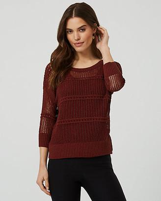 Le Château Open-Stitch Crew Neck Sweater