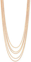2028 Rose Gold-Tone Multi-Chain Layer Necklace