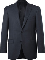 Canali - Blue Sienna Slim-fit End-on-end Wool And Silk-blend Suit Jacket