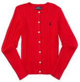 Ralph Lauren Girls 7-16 Cable Knit Cardigan