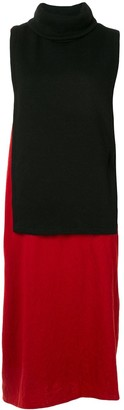 Y's Layered Roll Neck Dress