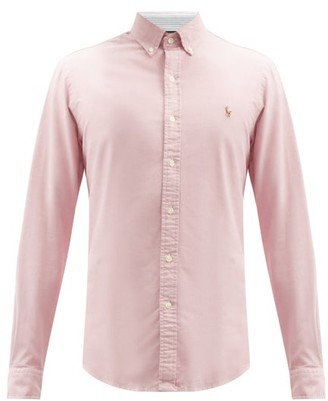Polo Ralph Lauren Logo-embroidered Cotton-oxford Shirt - Light Red