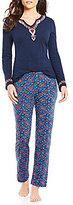 Lucky Brand Floral Bordered Pajamas