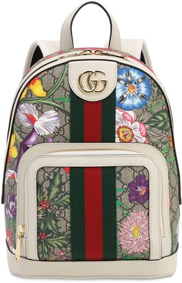 Gucci Flora Gg Supreme Small Backpack