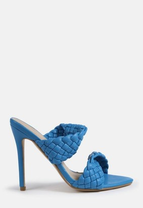 Missguided Double Woven Strap Heeled Sandals