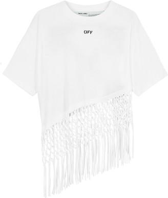 Off-White White Logo-print Cotton T-shirt