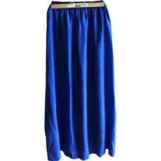 Les Petites Blue Silk Skirts