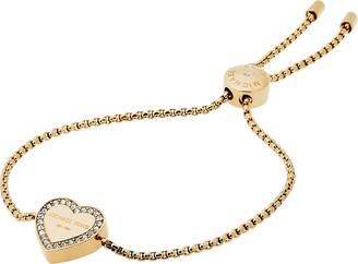 Michael Kors Women's Core Logo Gold-Tone Slider Bangle Bracelet (Model: MKJ5389710)