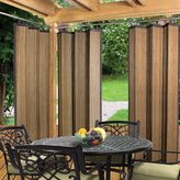 Bed Bath & Beyond Easy Glide Indoor/Outdoor Bamboo Ring Top Window Curtain Panel in Espresso