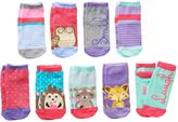 Pink Cookie Girls 9-pk. Lurex Animal Low-Cut Socks