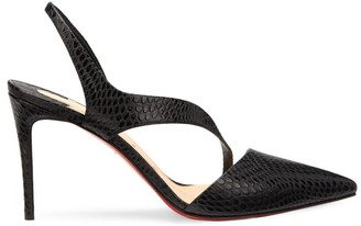 Christian Louboutin Brandina Snakeskin-Embossed Leather Slingback Pumps