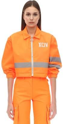 GCDS Emergency Cropped Nylon Jacket
