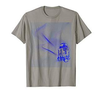 Star Wars R2-D2 Hypnotic Blue Wiggle Optical Graphic T-Shirt