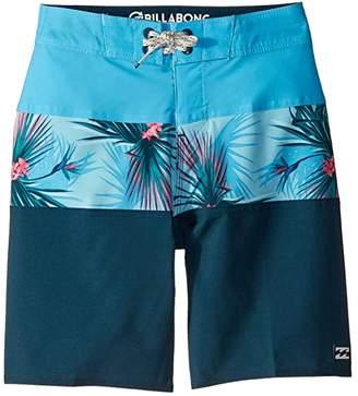 Billabong Kids Tribong Pro Boardshorts (Big Kids) (Dark Blue) Boy's Swimwear