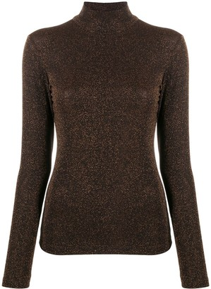 Liu Jo Metallic Slim-Fit Jumper