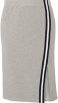 Splendid Varsity Active Striped Stretch Cotton And Modal-blend Jersey Skirt - Gray
