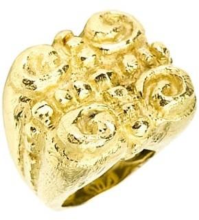 Katy Briscoe Sacred Spirals 18K Yellow Gold Large Ring
