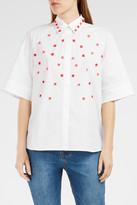 Paul & Joe Floral Embroidered Poplin Shirt