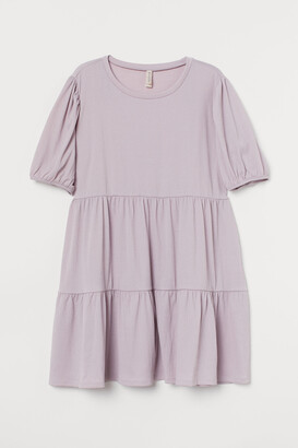 H&M H&M+ Puff-sleeved Jersey Dress