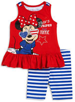 Nannette Baby Girls Minnie Mouse Tunic and Shorts Set