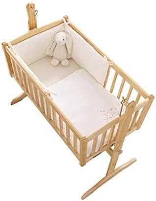 Clair De Lune Starburst Crib/Cradle Quilt and Bumper Set, Cream