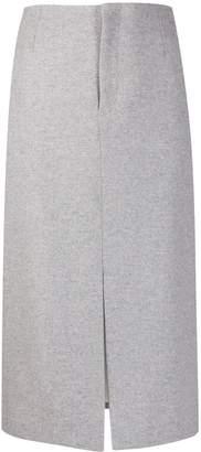 Joseph front-slit midi skirt