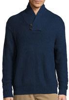 ST. JOHN'S BAY St. John's Bay Long-Sleeve Shawlneck Sweater