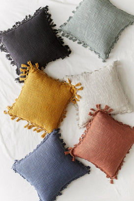 Urban Outfitters Gemma Fringe Throw Pillow