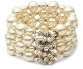 Miriam Haskell Faux Pearl Cuff Bracelet
