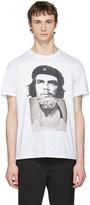 Neil Barrett White Hybrid Marble Guevara T-Shirt