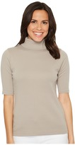 Lilla P Elbow Sleeve Turtleneck Women's Clothing
