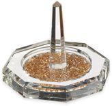 Oleg Cassini Crystal Diamond Gold Ring Holder