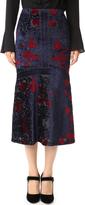 Yigal Azrouel Engineered Burnout Velvet Tulip Skirt