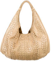 Rebecca Minkoff Whipstitch-Accented Leather Hobo