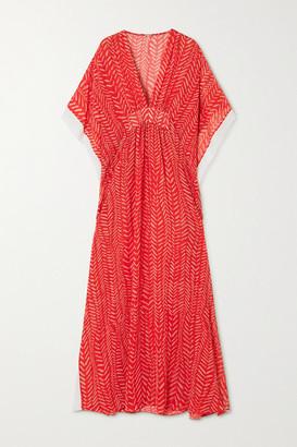 Johanna Ortiz Seychelles Printed Crepe De Chine Maxi Dress - Red