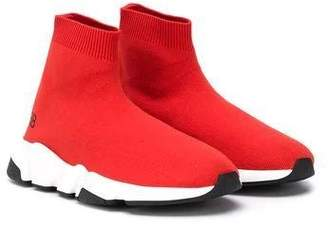 Balenciaga kids speed sock sneakers red