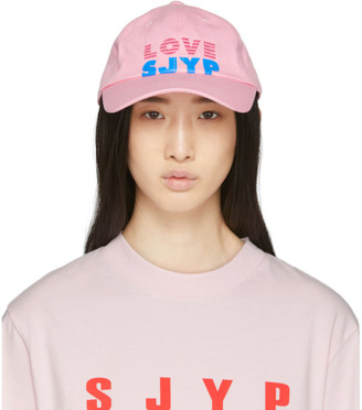 Sjyp Pink Love Logo Cap