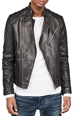 G Star Suzuki Slim Fit Leather Moto Jacket