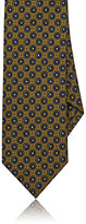 Drakes Drake's Men's Medallion Silk Necktie-GREEN