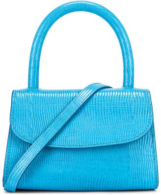 BY FAR Mini Lizard Embossed Bag in Electric Blue | FWRD