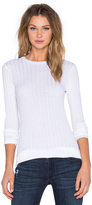 Enza Costa Cashmere Slim Long Sleeve Crew Neck Sweater
