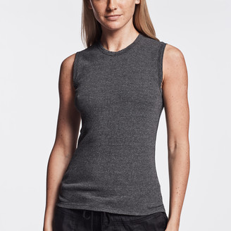 James Perse TECHNICAL JERSEY RIBBED MUSCLE TANK
