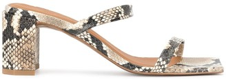BY FAR Tanya snake print sandals