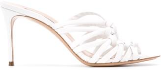 Casadei Strappy High Heel Mules